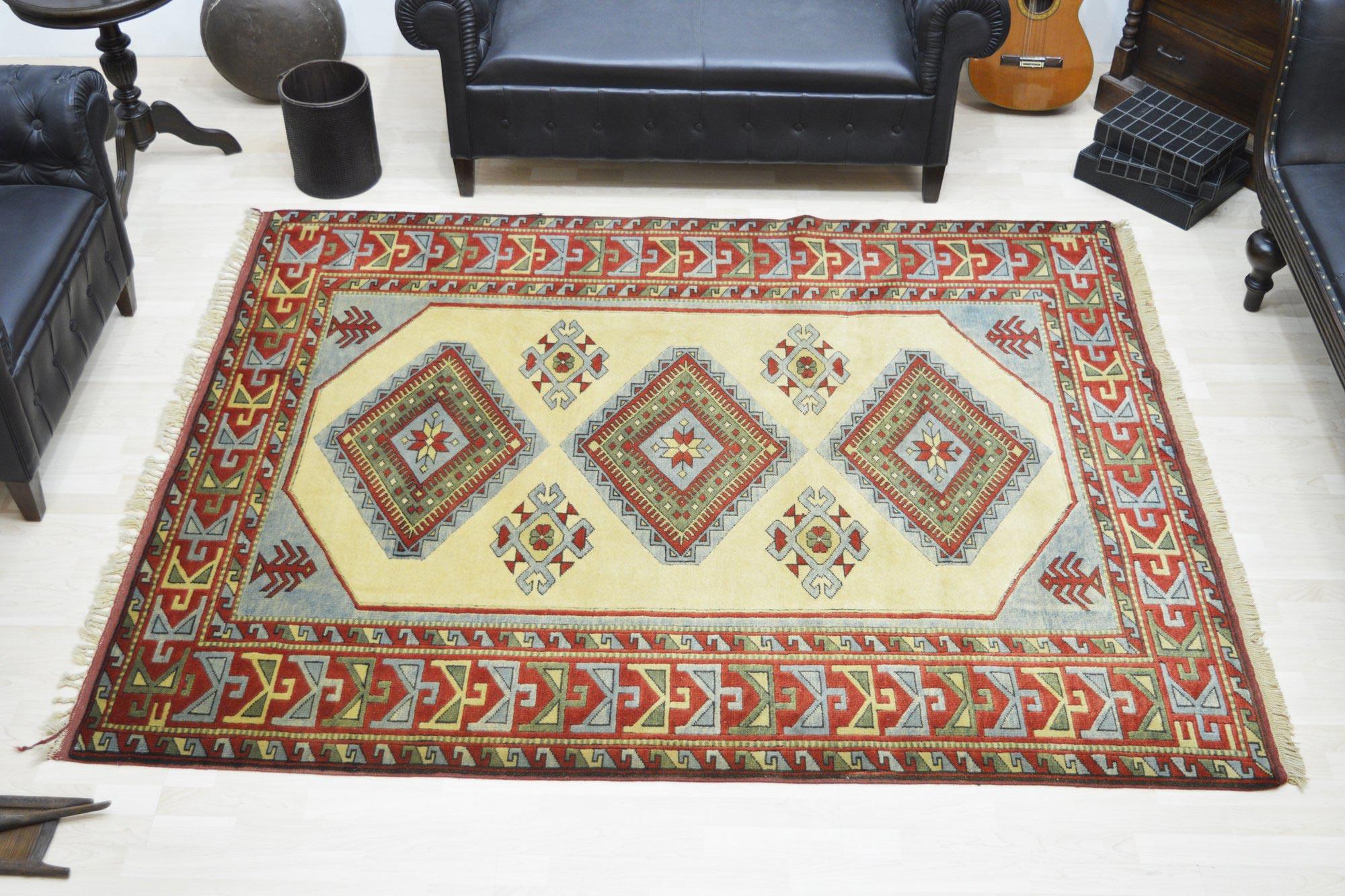 Χειροποίητο Χαλί Turkish Kazak Wool 233Χ185 160X230