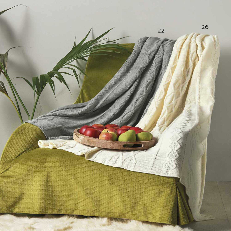 Κουβέρτα Καναπέ Serra 22 Grey Kentia 150X180 130x170cm