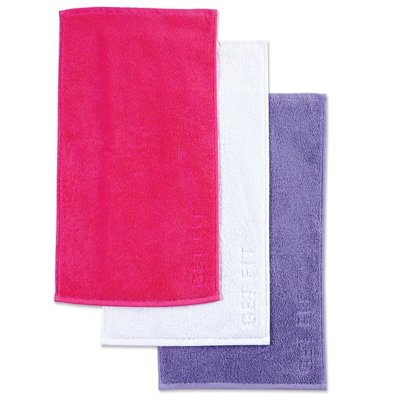 Πετσέτες Γυμναστηρίου Μικρές Σετ 3 τμχ Fuchsia-White-Purple Nef Nef Γυμναστηρίου 30x50cm