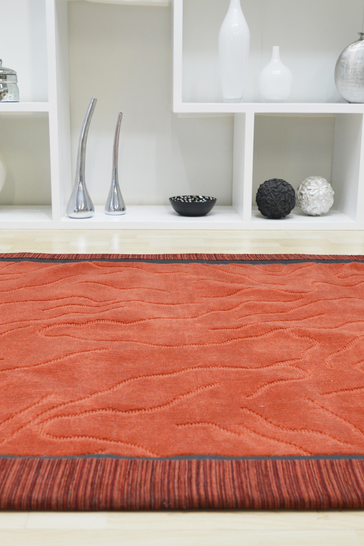 Χαλί Minimal Aslanis 3204 Red-Orange 140X200