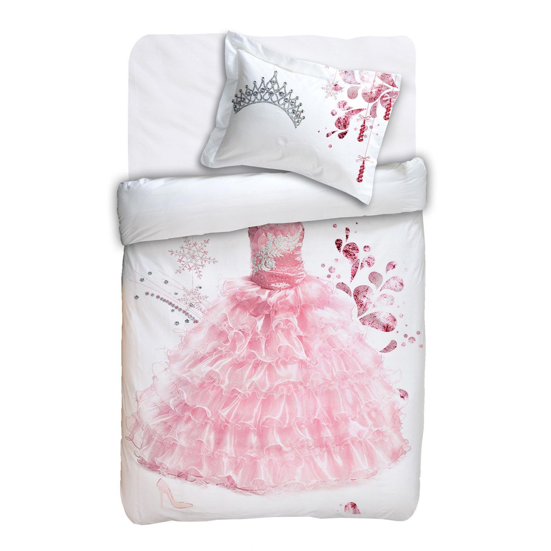 Κουβερτώριο Παιδικό Σετ 2τμχ.Σάρλοτ Pink-White Viopros 160x240cm