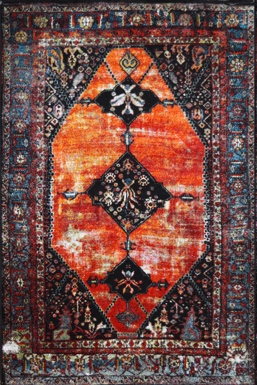 Χαλί Mohamadi 21725-110 Orange-Blue 200X300