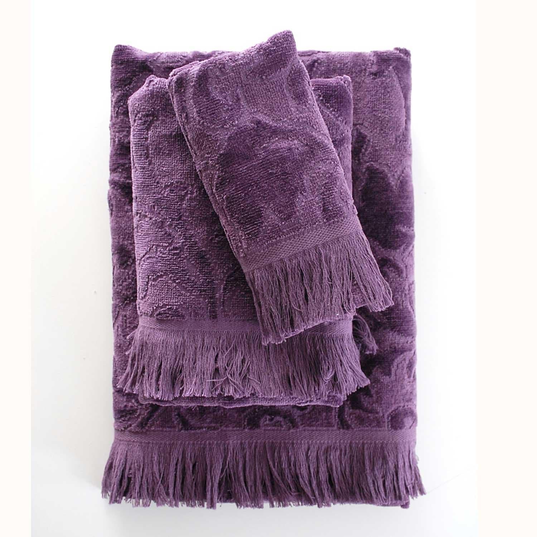 Πετσέτες Σετ 5 τμχ Sienna Purple Ρυθμός Σετ Πετσέτες