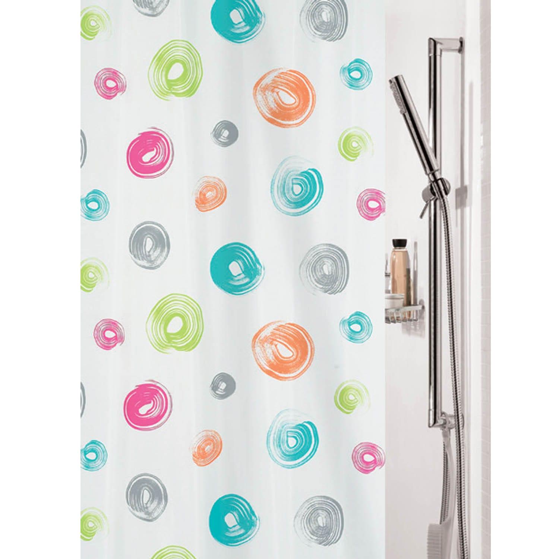 Κουρτίνα Μπάνιου Brush 02127.001 Beige-Multi 180X200 cm Spirella Φάρδος 180cm 180x200cm