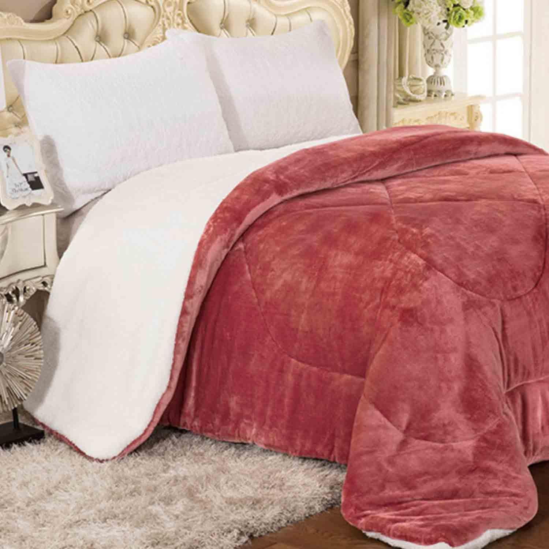Κουβέρτα Quilt flannel & Sherpa 805 Apple Adam Home Μονό 160x240cm