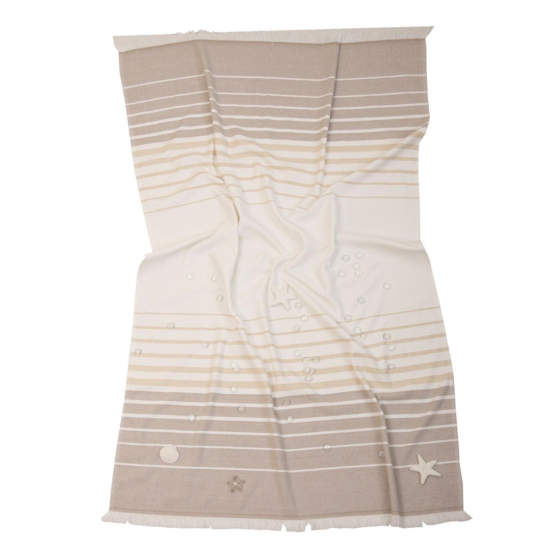 Πετσέτα Θαλάσσης Παρεό Mykonos Beige Anna Riska Θαλάσσης 90x160cm