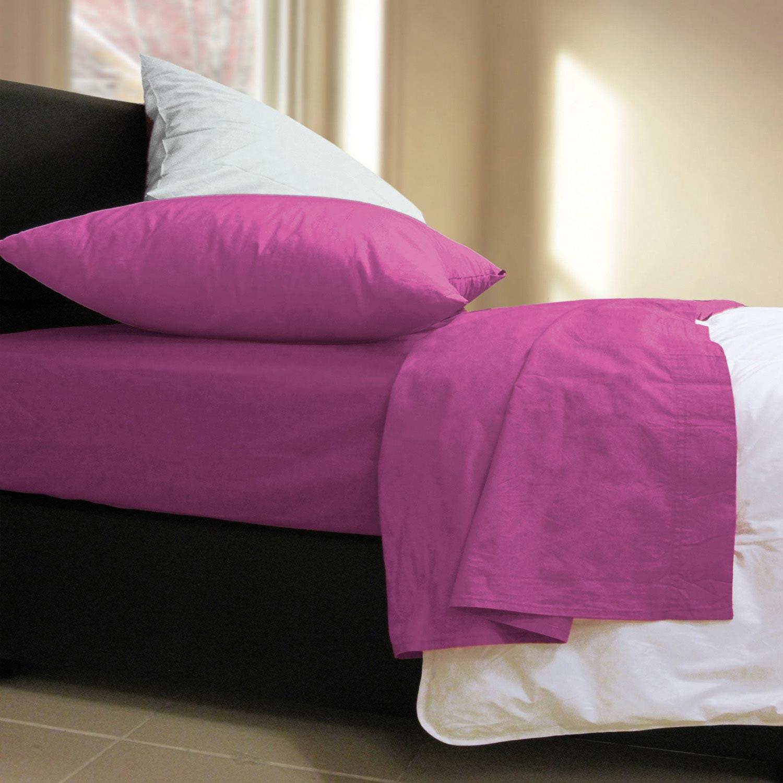 Σεντόνι Με Λάστιχο Basic Violet Nef-Nef Υπέρδιπλo 160x230cm
