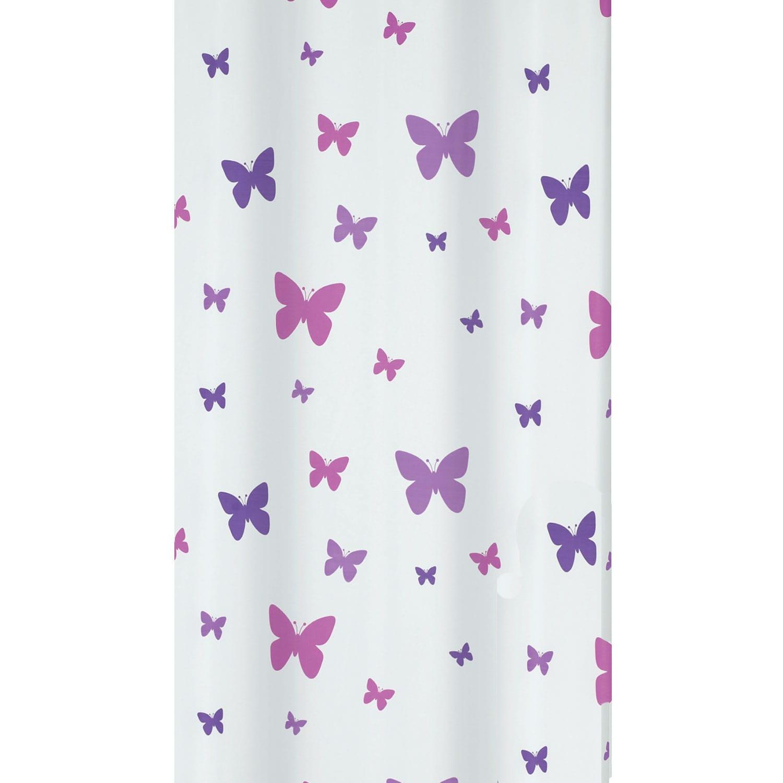 Κουρτίνα Μπάνιου Fly 02122.001 Purple 180X200 cm Spirella Φάρδος 180cm 180x200cm