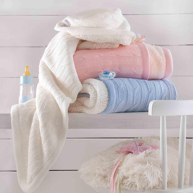Κουβέρτα Kimbo Ecru Ρυθμός Αγκαλιάς 90x90cm