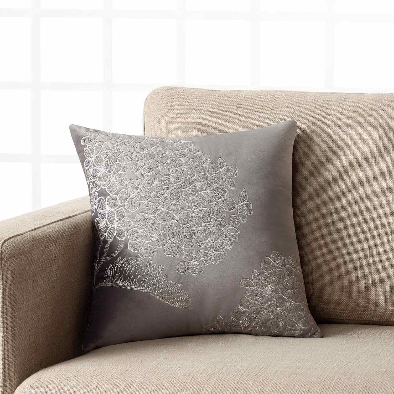 Μαξιλαροθήκη 324 15 Grey Gofis Home 40Χ40 100% Polyester