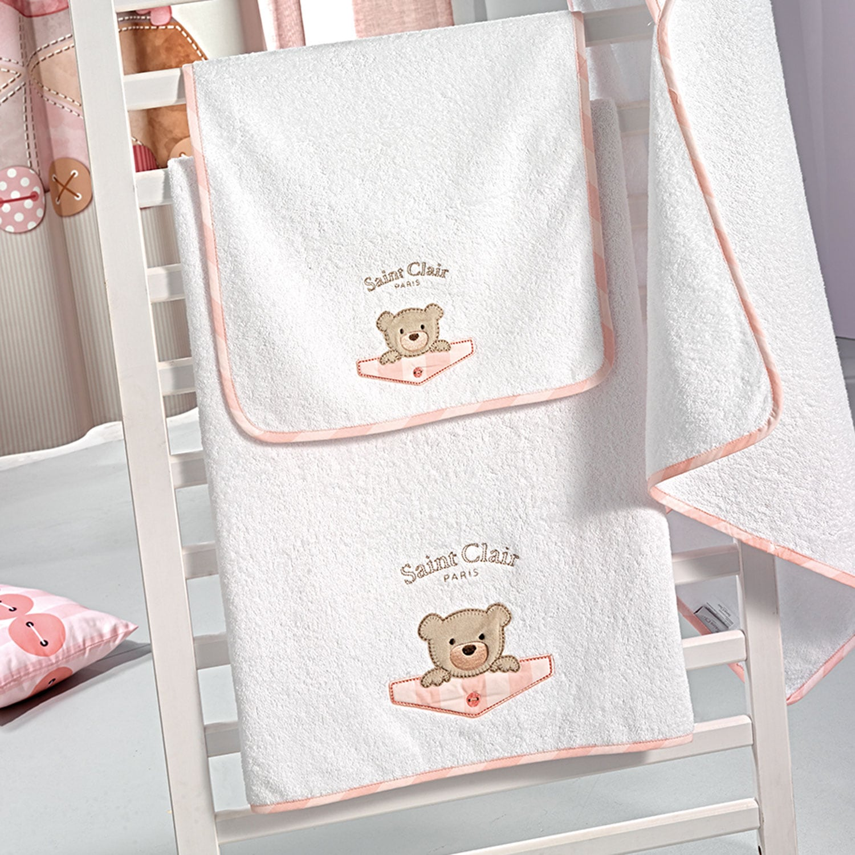 Βρεφικές Πετσέτες Σετ Teddy Rose Saint Clair Σετ Πετσέτες 40x60cm