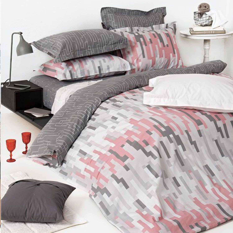 Κουβερλί Urban 22 Grey-Pink Kentia Υπέρδιπλo 240x260cm