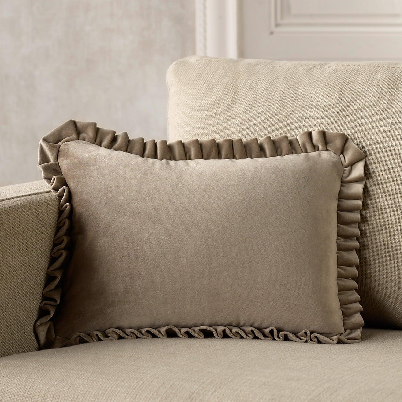 Μαξιλαροθήκη Με βολάν 711/11 Beige 30Χ45 Gofis Home 30Χ50 100% Polyester