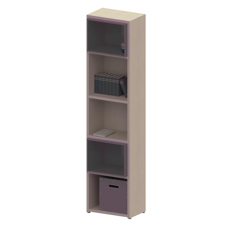 Βιβλιοθήκη Παιδική Με 2 Κουτιά Dali Oak Natural-Anthracite 48X25X195 cm