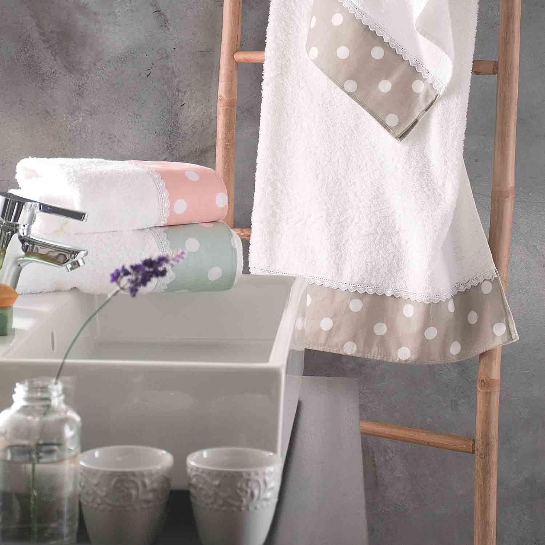 Πετσέτες Σετ Soft Pink Ρυθμός 3τμχ Σετ Πετσέτες