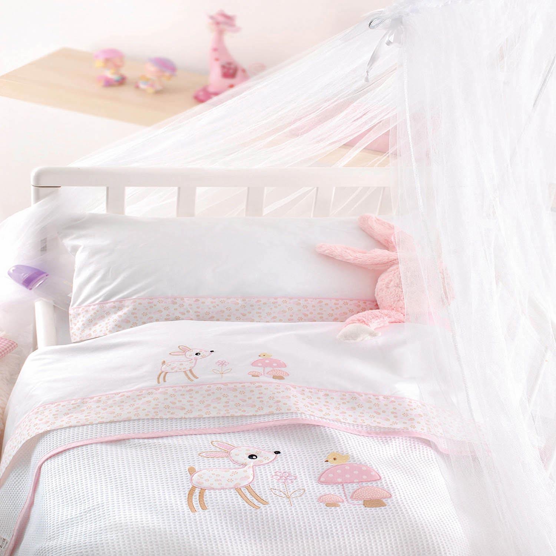 Κουβέρτα Βρεφική Πικέ Roudi Pink Ρυθμός Κούνιας 120x150cm