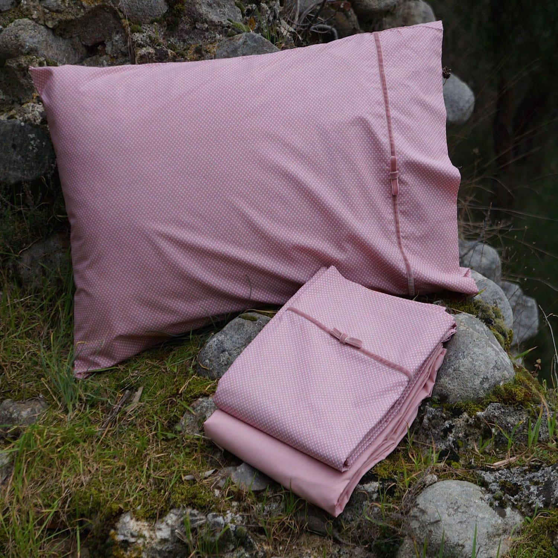 Σεντόνια Σετ 4Τμχ. Marcia Pink Margolia King Size 240x270cm